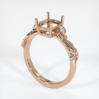 18K Rose Gold Ring Setting - JS1078R18