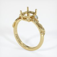 14K Yellow Gold Ring Setting - JS1078Y14