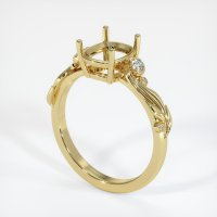 18K Yellow Gold Ring Setting - JS1078Y18