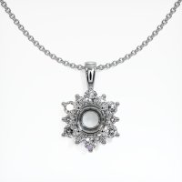 14K White Gold Pendant Setting - JS1080W14