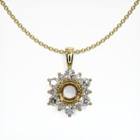 18K Yellow Gold Pendant Setting - JS1080Y18