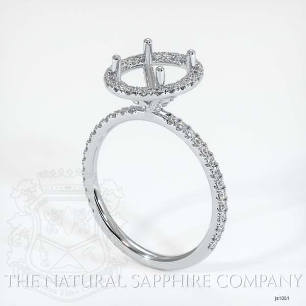 French Cut Pave Diamond Halo Setting JS1081 Image
