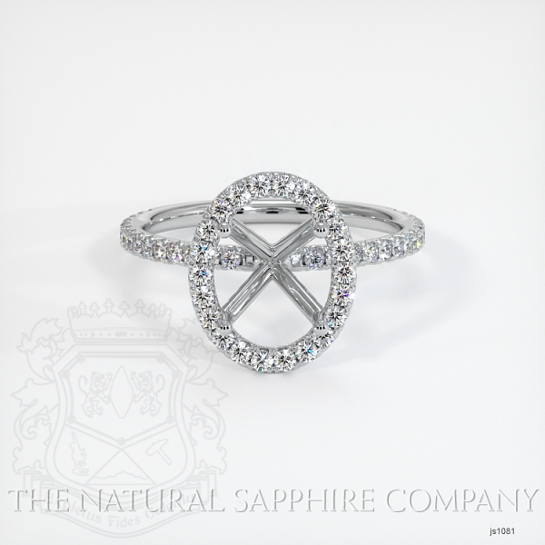 French Cut Pave Diamond Halo Setting JS1081 Image 2