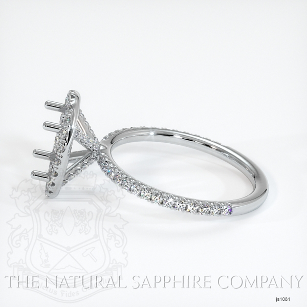 French Cut Pave Diamond Halo Setting JS1081 Image 3