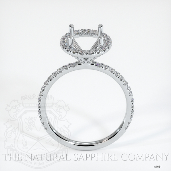 French Cut Pave Diamond Halo Setting JS1081 Image 4