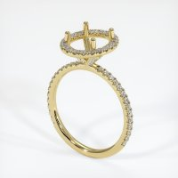 18K Yellow Gold Pave Diamond Ring Setting - JS1081Y18