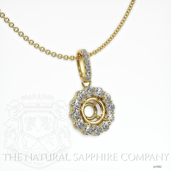 4 prongs diamond halo pendant Setting. JS1082 Image 2
