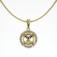 18K Yellow Gold Pave Diamond Pendant Setting - JS1083Y18