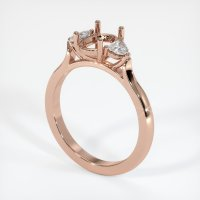 14K Rose Gold Ring Setting - JS1090R14