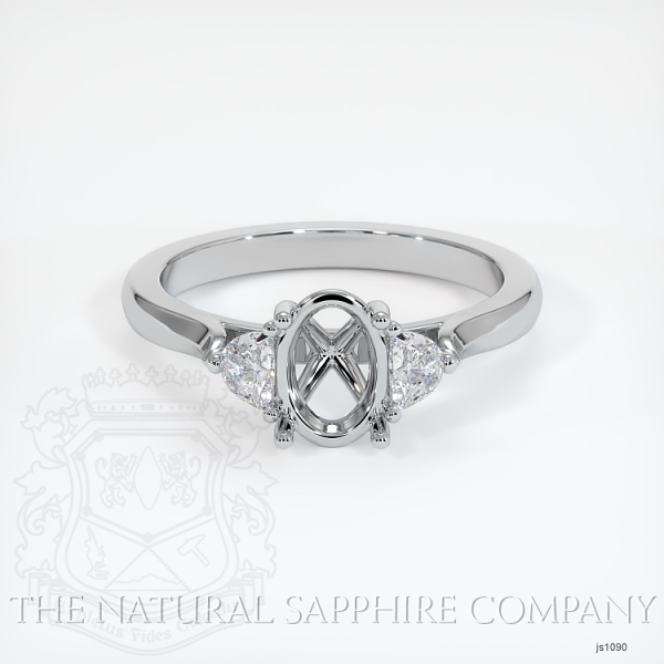 4 Prong Multi Stone Ring Setting JS1090 Image 2