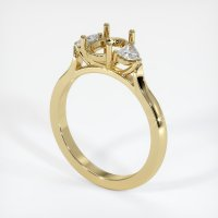 14K Yellow Gold Ring Setting - JS1090Y14