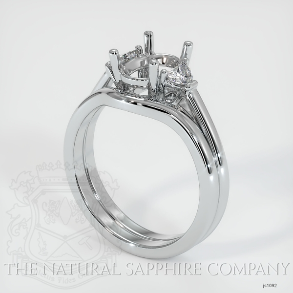 4 Prong Multi Stone Wedding Setting JS1092 Image