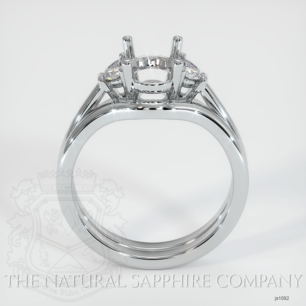 4 Prong Multi Stone Wedding Setting JS1092 Image 4