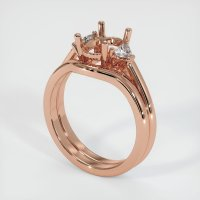 14K Rose Gold Ring Setting - JS1092R14