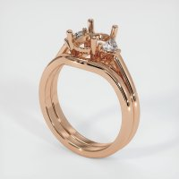18K Rose Gold Ring Setting - JS1092R18