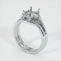 14K White Gold Ring Setting - JS1092W14