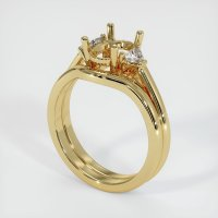14K Yellow Gold Ring Setting - JS1092Y14