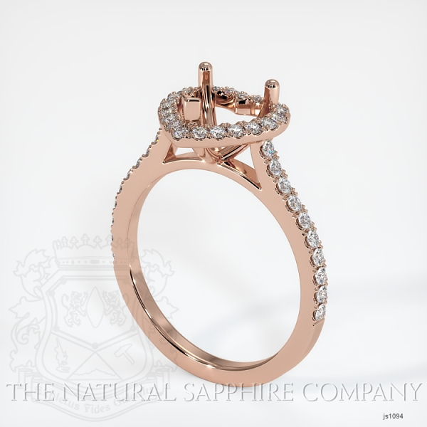 Scoop Cut Pave Diamond Halo Setting For Heart Shape JS1094 Image