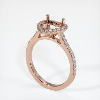 14K Rose Gold Pave Diamond Ring Setting - JS1094R14