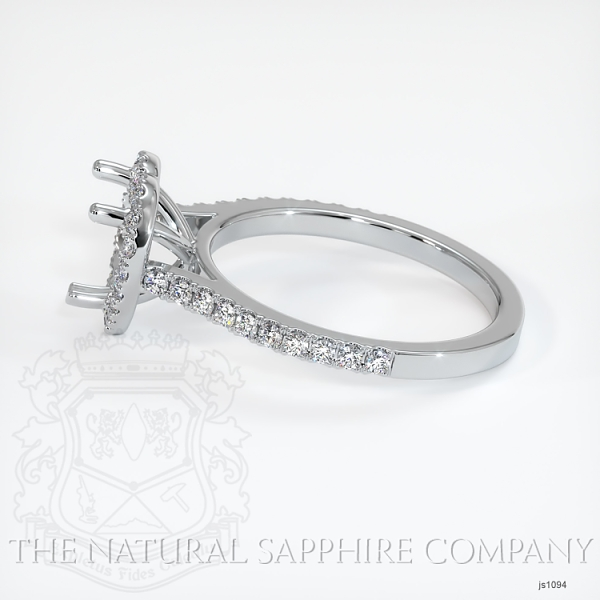 Scoop Cut Pave Diamond Halo Setting For Heart Shape JS1094 Image 3