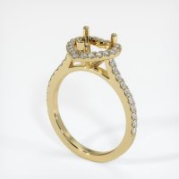 14K Yellow Gold Pave Diamond Ring Setting - JS1094Y14