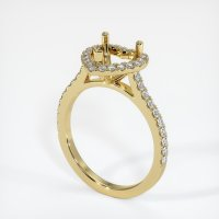 18K Yellow Gold Pave Diamond Ring Setting - JS1094Y18