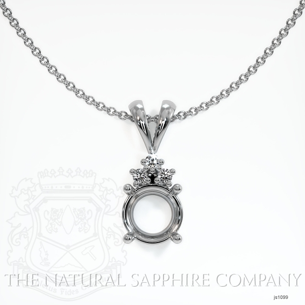4 Prong With 3 Diamonds Pendant Setting JS1099 Image