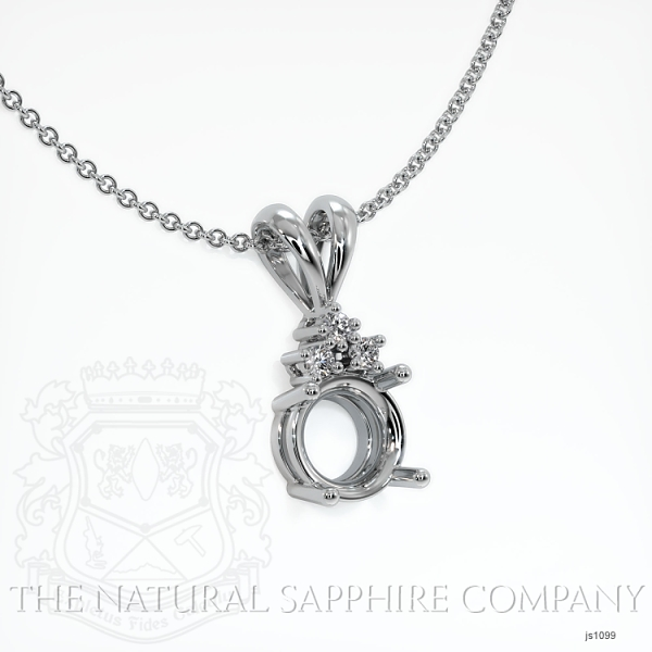 4 Prong With 3 Diamonds Pendant Setting JS1099 Image 2