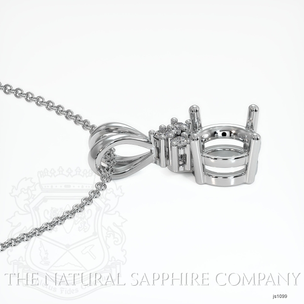 4 Prong With 3 Diamonds Pendant Setting JS1099 Image 3