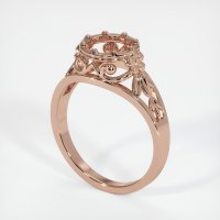 14K Rose Gold Ring Setting - JS11R14