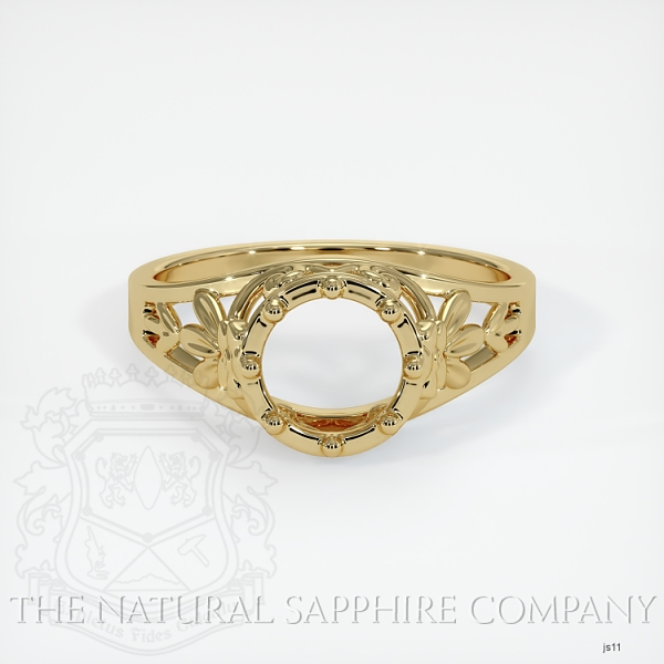 Antique Style Solitaire Ring Setting JS11 Image 2
