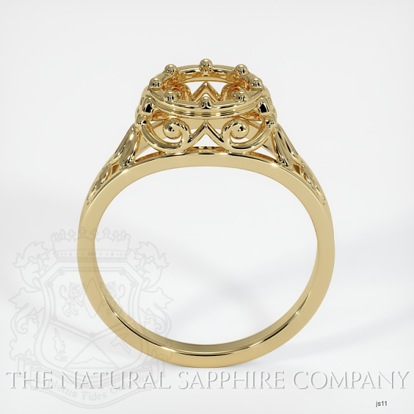 Antique Style Solitaire Ring Setting JS11 Image 4