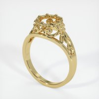 18K Yellow Gold Ring Setting - JS11Y18
