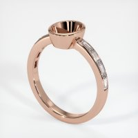 14K Rose Gold Ring Setting - JS1103R14