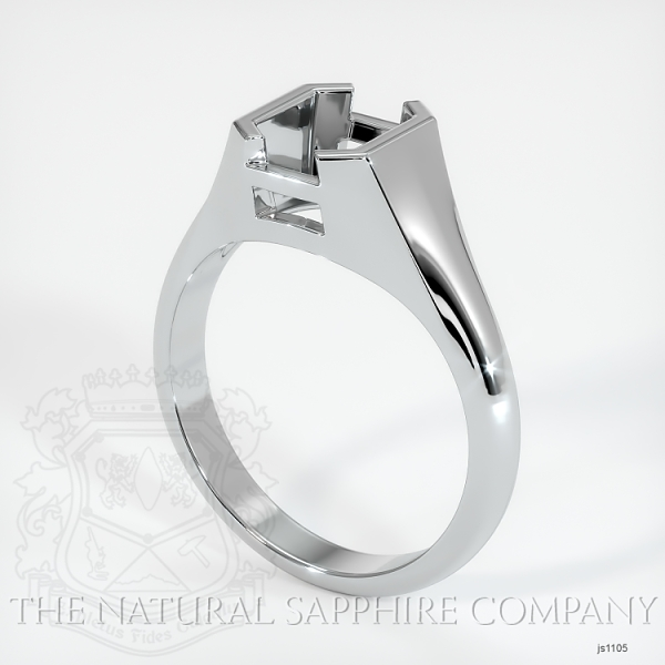 Half Bezel Solitaire Ring Setting JS1105 Image