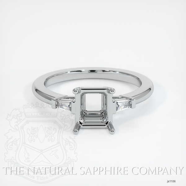 3 Stone Ring Setting - Tapered Baguette Diamonds JS1106 Image 2