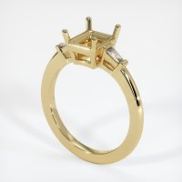 14K Yellow Gold Ring Setting - JS1106Y14