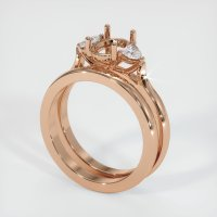 18K Rose Gold Ring Setting - JS1107R18
