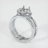 14K White Gold Ring Setting - JS1107W14