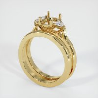 14K Yellow Gold Ring Setting - JS1107Y14