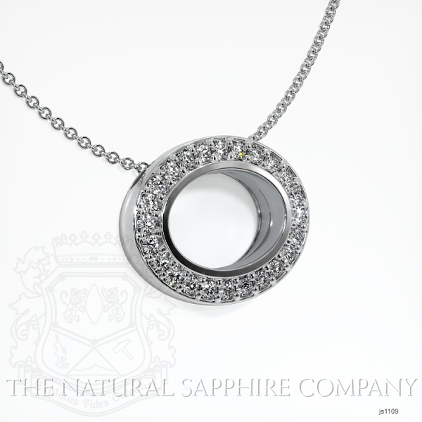 Bezel Set Pave Necklace Setting JS1109 Image 2