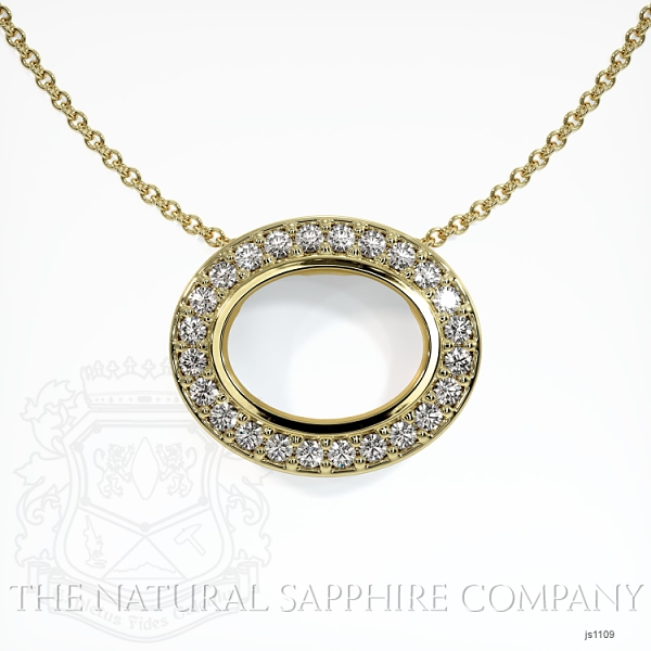 Bezel Set Pave Necklace Setting JS1109 Image