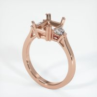 14K Rose Gold Ring Setting - JS1119R14