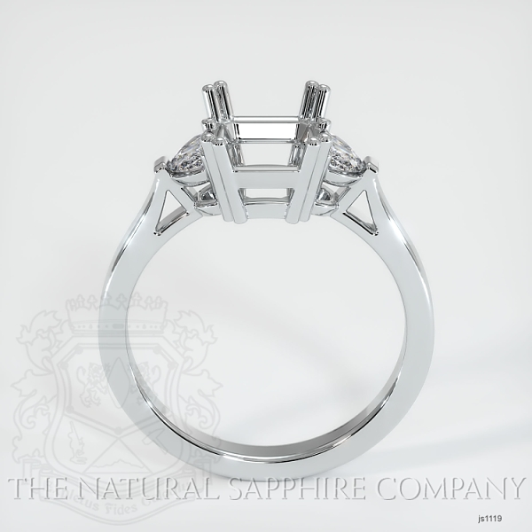 Double Prong 3 Stone Ring Setting - Half Moon Diamonds JS1119 Image 4