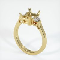 18K Yellow Gold Ring Setting - JS1119Y18