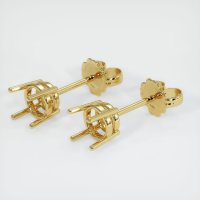 18K Yellow Gold Earring Setting - JS112Y18