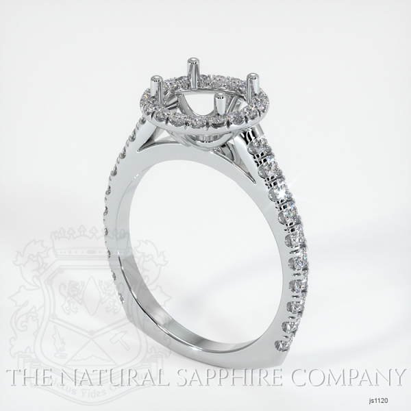 French Cut Diamond Halo Setting - European Shank JS1120 Image