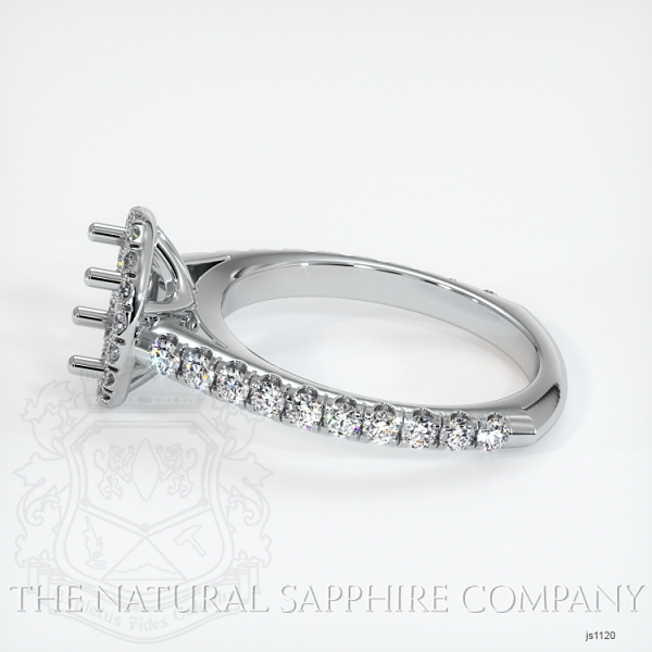 French Cut Diamond Halo Setting - European Shank JS1120 Image 3
