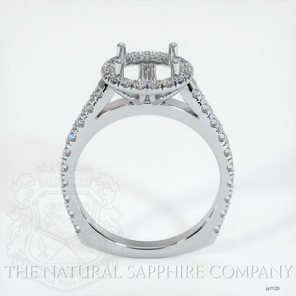 French Cut Diamond Halo Setting - European Shank JS1120 Image 4
