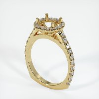14K Yellow Gold Pave Diamond Ring Setting - JS1120Y14